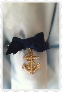 Navy blue anchor bracelet