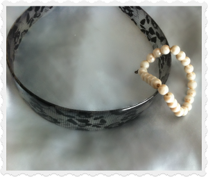 Lace headband and pearl bracelet