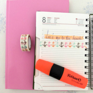 Agenda - Highlighter - Washi tape